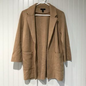 J. Crew Sophie Open Front Sweater Blazer